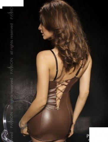 Комбинация со шнуровкой сзади + стринги, коричневый, твоя вторая кожа, фото 2