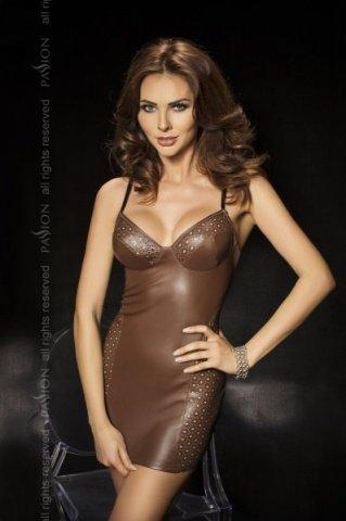 Комбинация со шнуровкой сзади + стринги, коричневый, твоя вторая кожа, фото 3