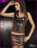 Комплект: нижняя юбка + топ + стринги, коричневый, твоя вторая кожа - Секс-шоп Мир Оргазма