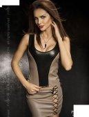 Комплект: нижняя юбка + топ + стринги, серый, твоя вторая кожа.