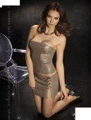 Комплект: нижняя юбка + топ + стринги, серый, твоя вторая кожа - Секс-шоп Мир Оргазма