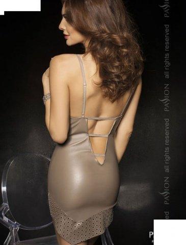 Комбинация + стринги, серый, твоя вторая кожа, фото 2