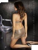 Топ + нижняя юбка + стринги, серый, твоя вторая кожа - Секс-шоп Мир Оргазма