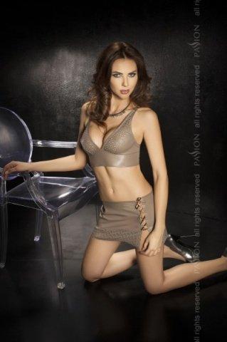 Топ + нижняя юбка + стринги, серый, твоя вторая кожа, фото 2
