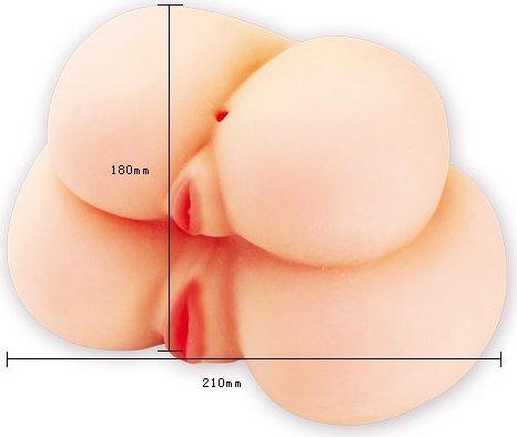Двойные вагины и анус - реалистики с вибр 21 см, фото 4