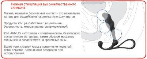Массажер простаты zini janus anti-shock большой черный, фото 5