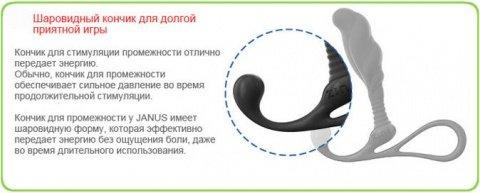 Массажер простаты zini janus anti-shock большой черный, фото 6