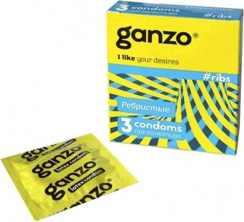 Презервативы Ganzo Twister 3 Ребристые, анатомические, с согревающей смазкой 3/24, фото 3