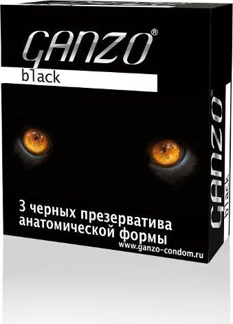 Презервативы Ganzo Black 3 Черные анатомические 3/24
