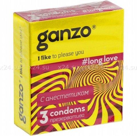 Презервативы Ganzo Long Love 3 для продления полового акта 3/24, фото 2