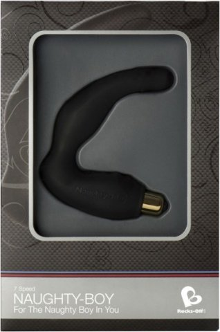 Вибростимулятор простаты черный Naughty Boy 7-speed P-Spot vibr. Black, фото 2