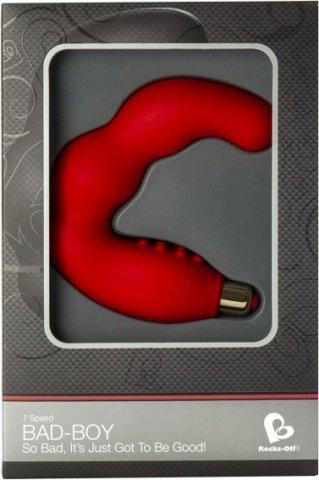 Вибростимулятор простаты красный Bad Boy 7-speed P-Spot vibrator Red, фото 3