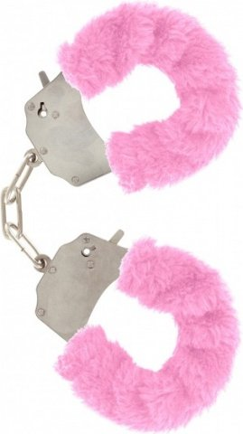 Наручники розовые furry fun cuffs, фото 3