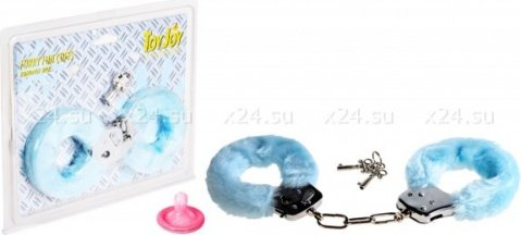 Наручники голубые furry fun cuffs, фото 2