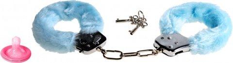 Наручники голубые furry fun cuffs