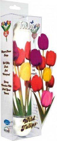 Вибратор белый с цветами, фото 2
