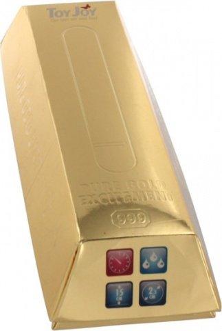 Вибратор Pure Gold золотистый