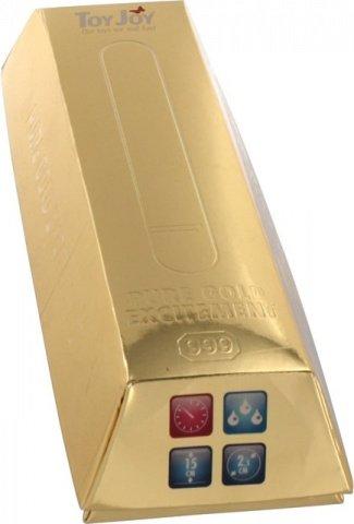 Вибратор Pure Gold золотистый, фото 2