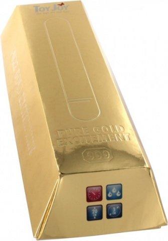Вибратор 20 см золотой водонепр