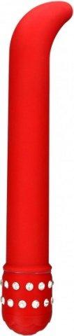 G-вибратор со стразами Diamond Red, фото 2