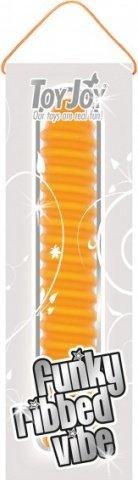 Анальный вибратор со спиралью Funky Ribbed Vibe 15 см, фото 4