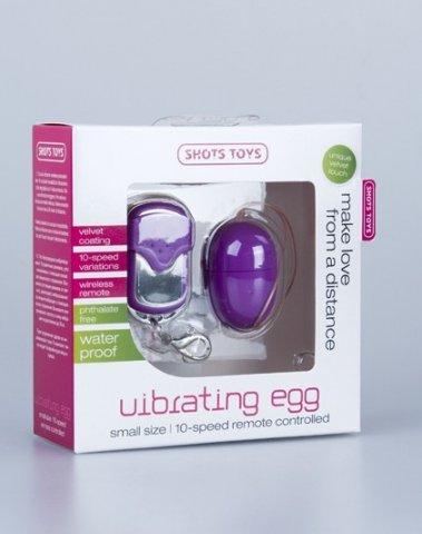 Виброяйцо 10 Speed Remote Vibrating Egg Small фиолетовое