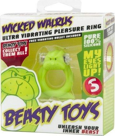 Вибронасадка Beasty Toys Wicked Walrus зеленая, фото 2