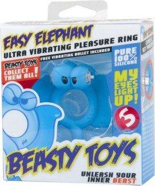 Вибронасадка Beasty Toys Easy Elephant голубая (большое фото) > Интернет секс шоп Мир Оргазма