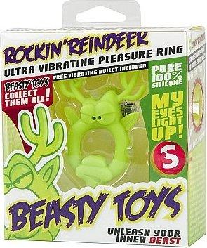 Вибронасадка Beasty Toys Rockin Reindeer зеленая, фото 2
