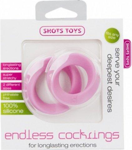 Набор эрекционных колец Endless Cocking Set розовое, фото 2