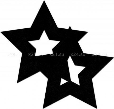 Украшение на соски Nipple Stickers в форме звездочек черное (большое фото) > Секс-шоп Мир Оргазма