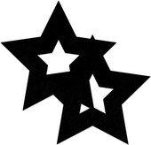 Украшение на соски Nipple Stickers в форме звездочек черное - Секс-шоп Мир Оргазма