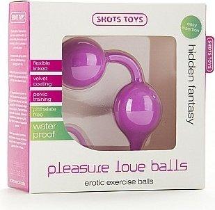 Вагинальные шарики Pleasure Love Balls розовые, фото 2