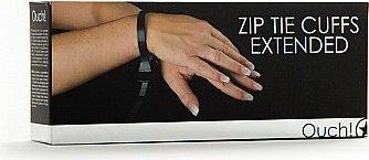 Наручники Zip Tie Cuffs Extended черные, фото 2