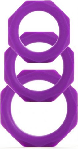 ����� ����������� ����� Octagon Rings 3 sizes ���������� (3 ��.)