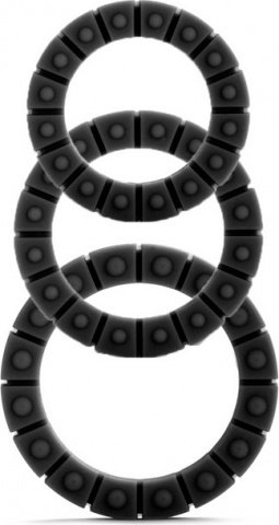 Набор эрекционных колец Silicone Love Wheel 3 sizes черный (3 шт.)