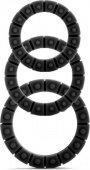 Набор эрекционных колец 3 черный 3 шт. | Эрекционные кольца без вибрации | Секс-шоп Мир Оргазма