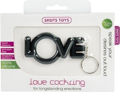 Эрекционное кольцо Love Cocking черное, фото 2