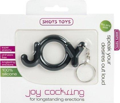 Эрекционное кольцо Joy Cocking черное, фото 2
