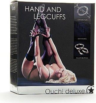 Наручники + оковы на ноги Hand and Leggcufs, фото 2
