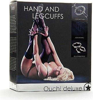 Наручники + оковы на ноги Hand and Leggcufs, фото 4