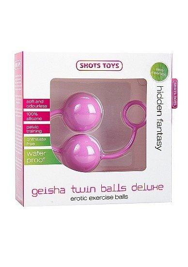 Вагинальные шарики Geisha Twin Balls Deluxe розовые, фото 2