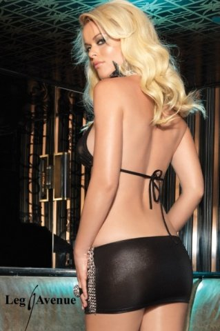 M/L-Топ + юбка черный