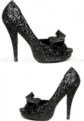Туфли черные с бантами diva 39, фото 2