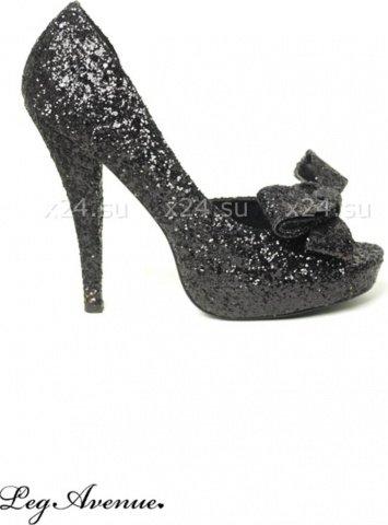 Туфли черные с бантами diva 39, фото 5