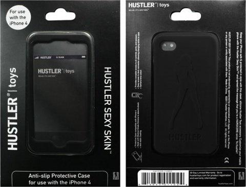 Черный силиконовый чехол hustler для iphone 4,4s