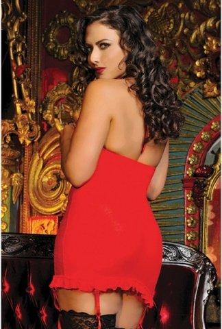 Гипюровое красное платье с завязками на груди, фото 3