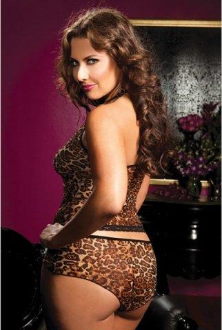 Леопардовые топ-маечка и шортики, фото 3