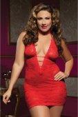 Ажурное платье красное с глубоким декольте | Мини платья | Интернет секс шоп Мир Оргазма