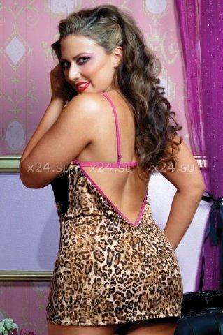 Леопардовое платье с открытой спиной, фото 2